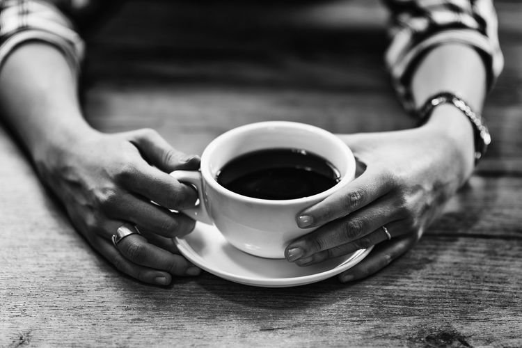 Coffee Cup Coffee Female Woman Cafe Home Drink Young Girl Cup Hot Glass One Person Enjoy Caucasian Lifestyles Drinking Coffee Concept Caffeine Indoors  Holding Beautiful Adult Casual Break Table Aroma Close Up Drinking Happiness Coffee Cup Relaxation Mug Coffee - Drink Hand Human Hand Food And Drink Black And White