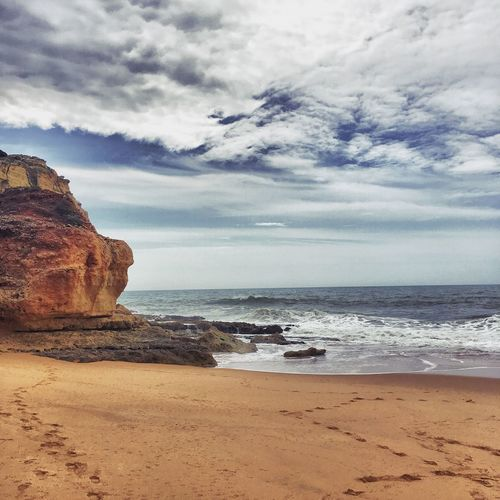 Caneiros Beach, Carvoeiro / Portugal Beach Summer Cliff Portugal Algarve Sea Sky Clouds Nature First Eyeem Photo