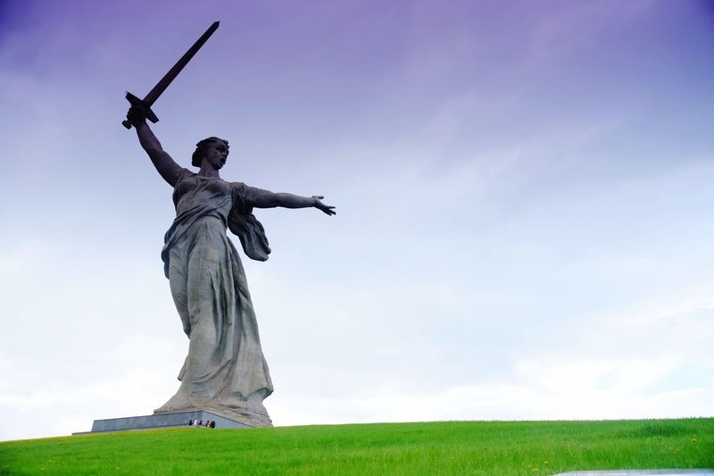 Statue of mother russia