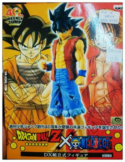 Dragon Ball Z Goku One Piece Luffy Luffy Monkey D Luffy Anime goku and luffy ... fusion!!!