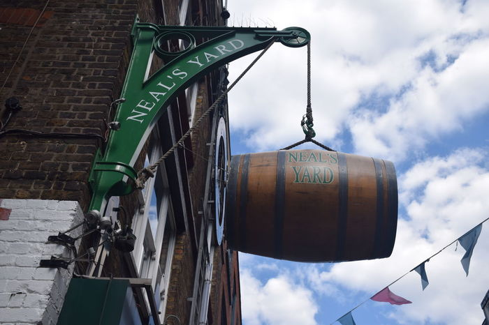 Advertising London Neal's Yard Cloud - Sky Communication No People Outdoors Text