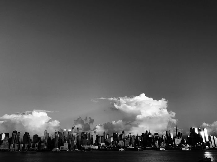 Manhattan from New Jersey. Late afternoon Sky Cloud - Sky City Cityscape