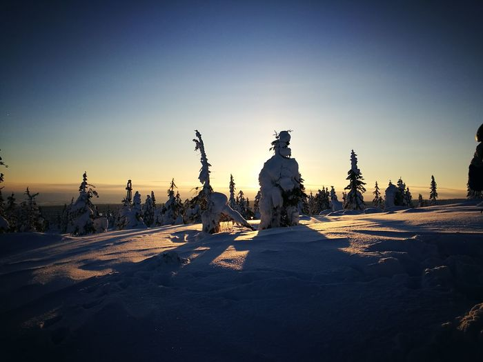 Sunlight Statue Silhouette Cold Temperature Winter Outdoors Nature Travel Destinations