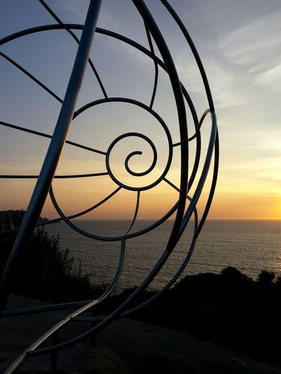 Caracola, en cabo Home Galicia Galiciacalidade Galifornia Cabohome Vacaciones Holidays Sol Water Sea Sunset Sky Horizon Over Water Close-up