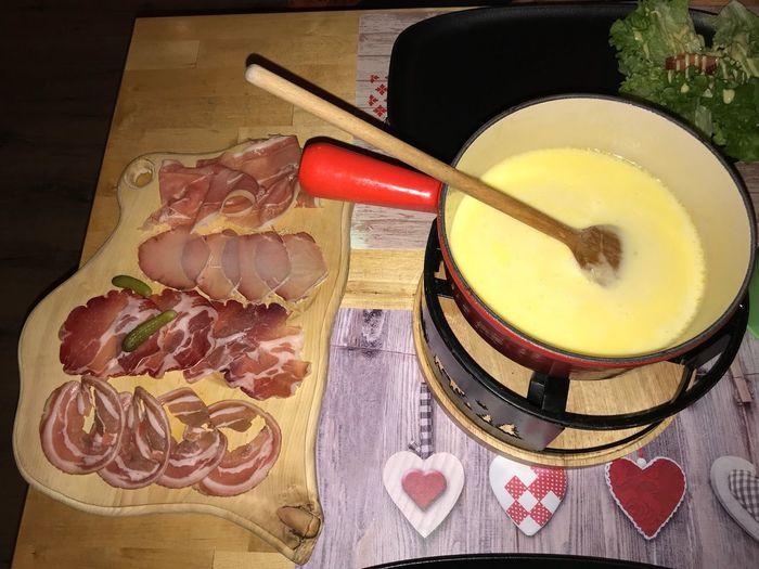 Fondue Savoyarde Fondues Fondue Pot Food And Drink Food Freshness Table Still Life Healthy Eating Drink