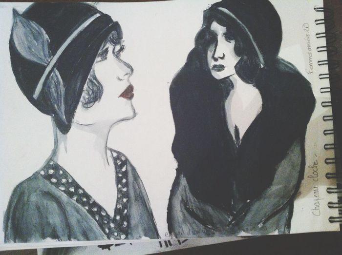 Draw Carnet De Croquis Women femmes des années 1920.