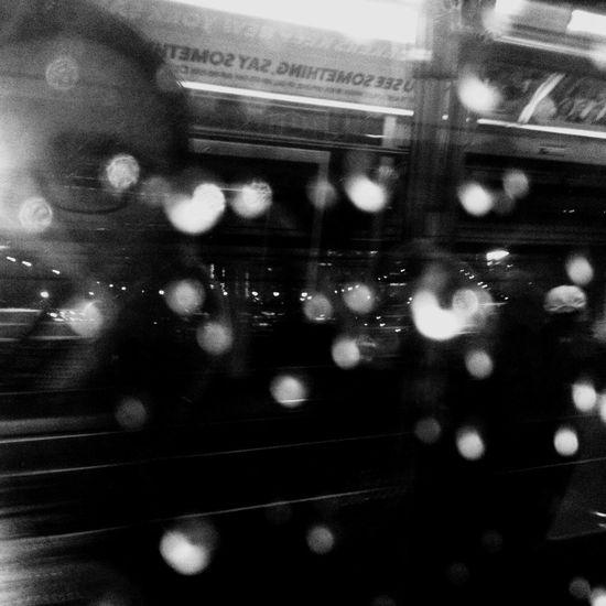 You see something, say something Monochromatic monochrome photography Black & White Subway Train New York City Transportation Public Transportation Mode Of Transport Train - Vehicle Indoors  No People Illuminated Close-up
