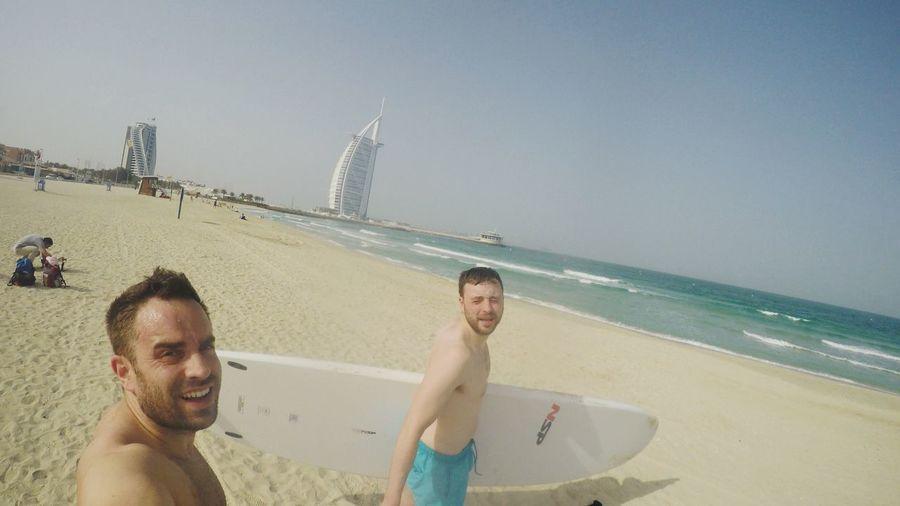 Standup paddle boarding in Dubai!