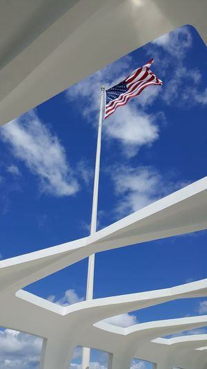 Pearl Harbor Memorial Travel US Flag Cloud - Sky No People Outdoors Patriotism Sky Travel Destinations