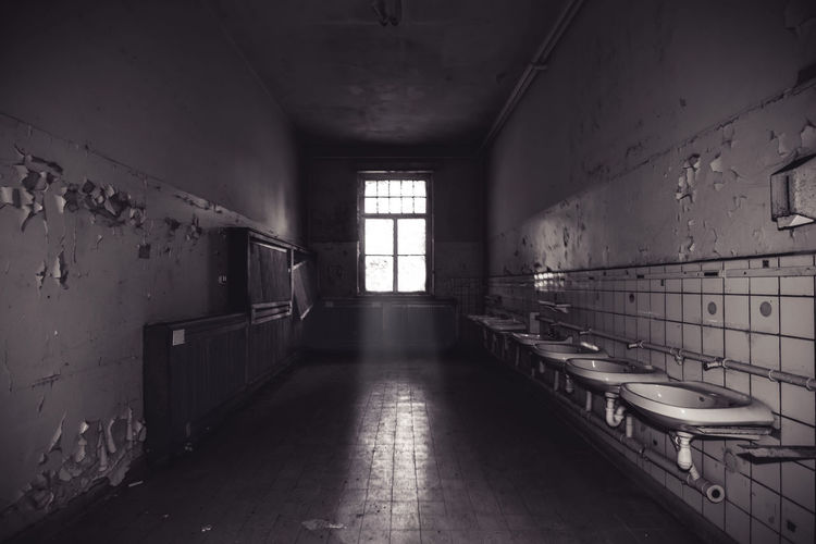 washroom - child psychiatry by www.eightTWOeightSIX.de Psychiatric Hospital Psychiatry Lights Lights And Shadows darkness and light Darkness Urban Exploration Urbex Urbexphotography Urban Decay Decay Old Buildings Rotten Urbanexplorer Urban Exploring Blackandwhite Black And White Black & White Bnw Bnw_collection Bnw_captures Bnw_society Bnw_worldwide Bnw_planet Window Indoors  Abandoned History Domestic Room No People Day