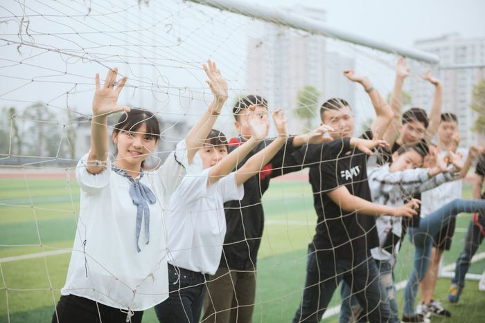Arms Raised Human Arm Education Teenager Togetherness Learning High School Student High School Standing Day Female High School Student Classroom Student Junior High Sport Human Body Part People Outdoors Friendship Adult