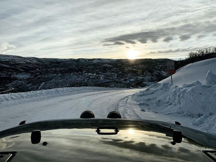 rise & shine. heading to the lift. Park City, Utah Wasatch County Wasatch Back Skiing Snow Cold Temperature Winter Cloud - Sky Nature Sky Sunset