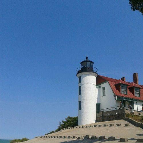 #nofilter #pointbetsie #lighthouse #bluesky Lighthouse Nofilter Bluesky Puremichigan Pointbetsie