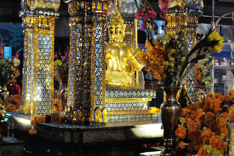 colorful Erawan shine decorate with colorful flowers 2015  Art Art And Craft Bangkok Bangkok Bomb Brahma Colorful Culture Cultures Decoration Erawan Shrine Ornate Place Of Worship Religion Sculpture Spirituality Statue Thailand Tradition Vabrant Vivid Spotted In Thailand