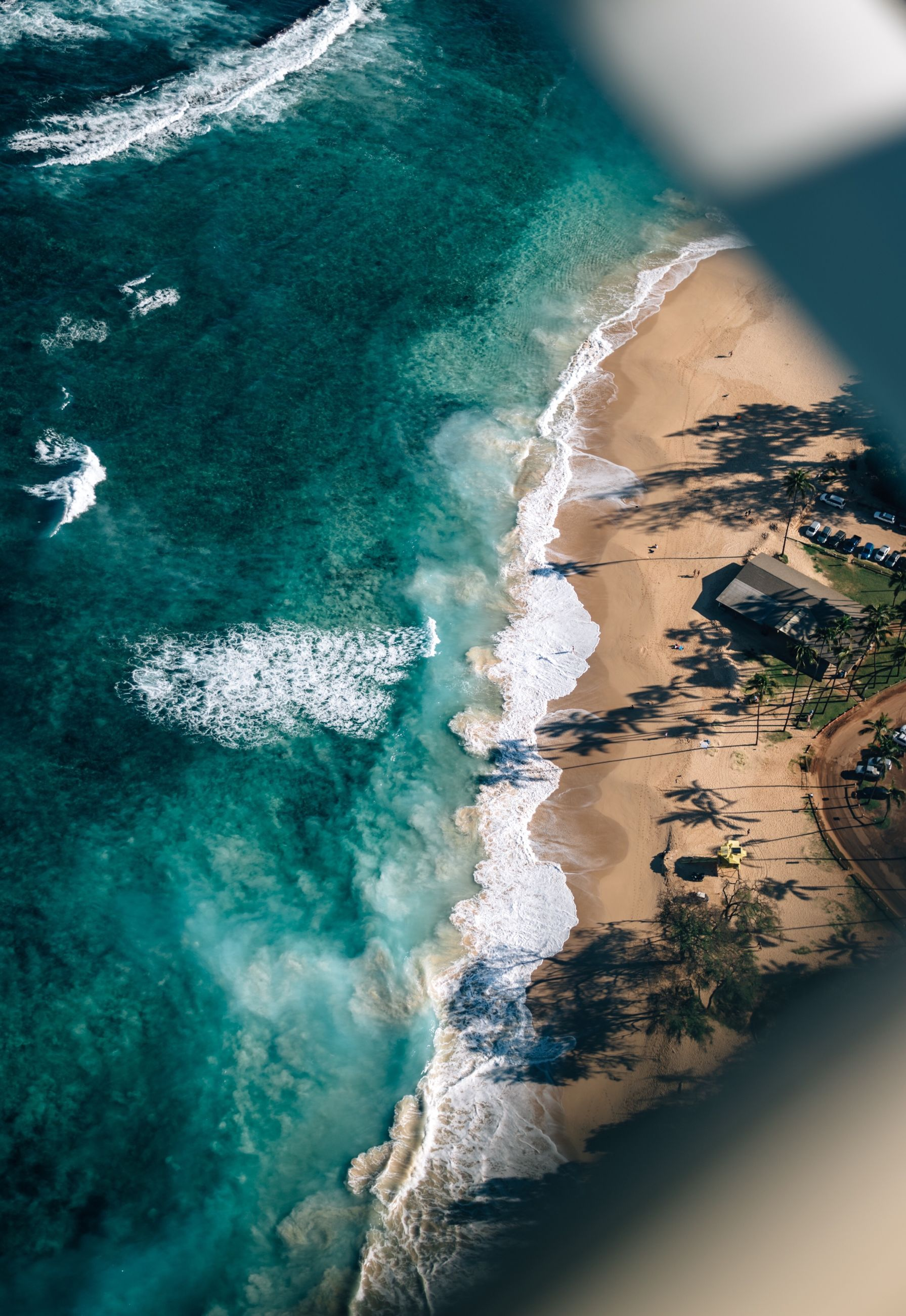 water, sea, beauty in nature, motion, scenics - nature, nature, beach, aquatic sport, sport, wave, day, land, no people, outdoors, high angle view, power in nature, aerial view, travel