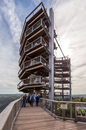 Germany's Horseshoe Bend, the Saarschleife, near Mettlach/Saarland Nature Outdoors Germany Deutschland Saarland Saarschleife Cloef Horseshoe Horseshoe Bend River View River Bend Bending Observation Point Observation Tower Baumwipfelpfad Autumn Nautical Vessel View From Above