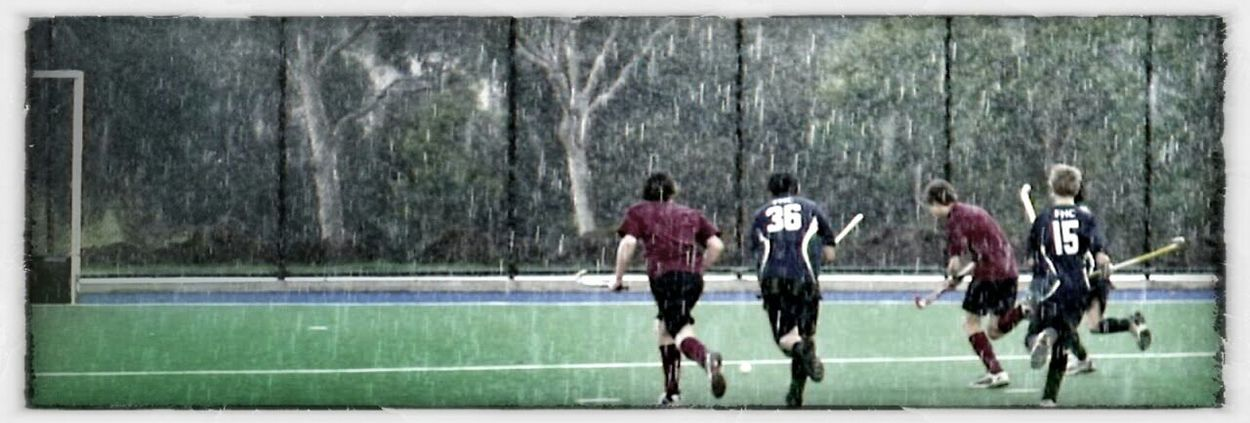 hockey in the rain
