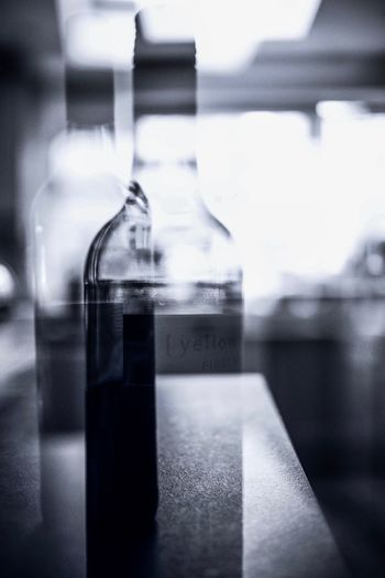 Did you drink too much? Double Exposure Container Indoors  Glass - Material Bottle Transparent Reflection Close-up Table No People Focus On Foreground Selective Focus Window Still Life Laboratory Day Food And Drink Drink Glass Office