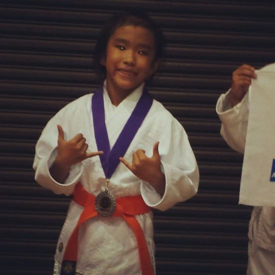 my oldest goddaughter won second place on sunday judi tournament ar halawa gym