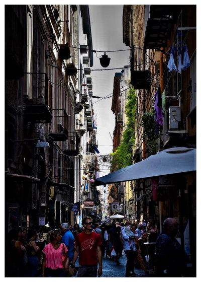 """""""Neapel sehen und sterben, frei nach J.W.v.Goethe"""" Italy❤️ """"Neapel Sehen Und Sterben… Frei Nach J.W.v.Goethe"""" Architecture Building Exterior Built Structure Street Walking Outdoors Men Women Residential Building Large Group Of People City Day Sky People"""