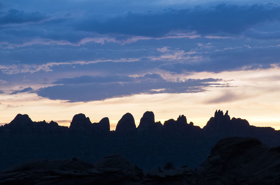 Desert Desert Tower Moab  Travel Utah America Beauty In Nature Cloud - Sky Dawn Dusk Landscape Mounatins Nature No People Outdoors Rock Rock Formation Scenics - Nature Silhouette Sky Southwest  Sunset Tranquil Scene Tranquility