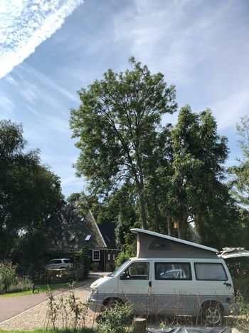 Vw Bus Waterland Holland Vw T4 Vanlife Camper VW Bus Tree Mode Of Transportation Plant Transportation Motor Vehicle Car Land Vehicle Sky Cloud - Sky Nature Day Architecture Road Built Structure No People House Building