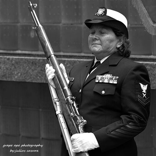 My Aunt  doing a Colorguard on Disabled Veterans Day. I caught her while she was blinking lol Military DisabledVeteransDay Veteransday Downtownnewyork UnitedStatesCoast Guard Coastguard Uscoastguard Colorguard Peaceful Beautiful Blinking Blink USCG