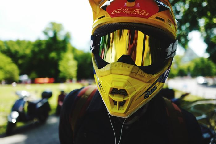 One Person Focus On Foreground Front View Headshot Headwear One Man Only Helmet Outdoors Men Real People Standing Day Portrait Lifestyles Looking At Camera Only Men Protective Workwear Close-up Adult Sky Live For The Story Paint The Town Yellow Mobility In Mega Cities
