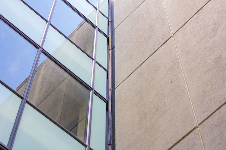 Low angle view of glass building