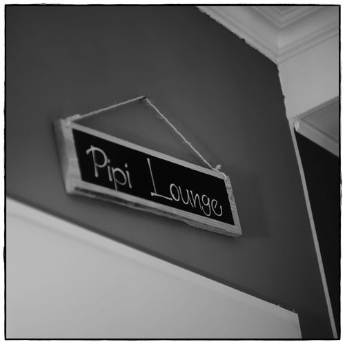 Pipi Lounge Funny Square Blackandwhite Close-up Communication Indoors  Lawoe No People Restaurant Text