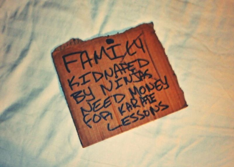Humbled Transient Sign Hand Script Writing  Cardboardsign Text No People First Eyeem Photo