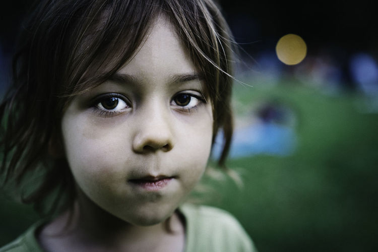 Boy Child Childhood Children Only Close-up Day Focus On Foreground Headshot Human Face Innocence Looking At Camera Melancholy One Person Outdoors People Playground Playing Portrait Real People Silent Disco Toddler