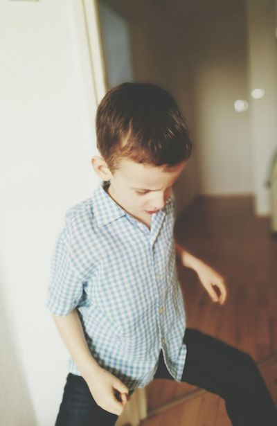 Child Indoors  Domestic Room Concentration Mummery Pasting Punch Up Bruiser Jest Joke Having Fun Just Kidding One Boy Only Childhood Looking Down Day Attacking Position Fencer EyeEmNewHere
