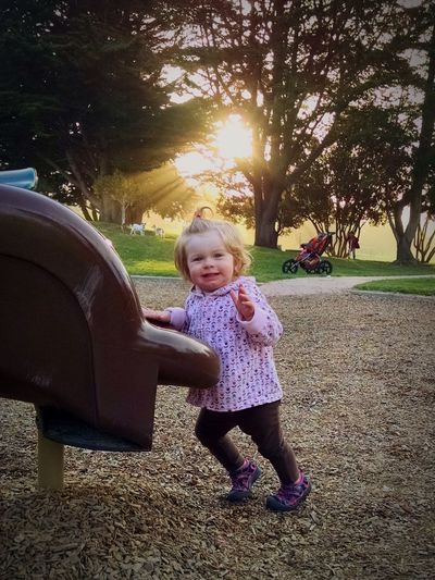 Morro Bay Sunset Playground Daughter