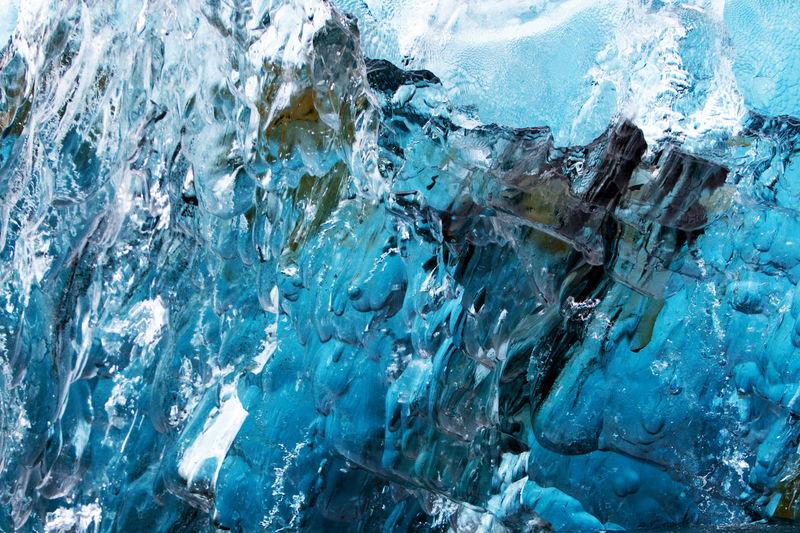 Full Frame Shot Of Frozen Ice Formation