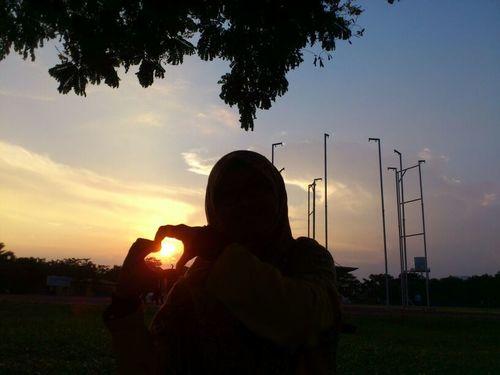 Fieldscape Love ♥ Malaysia Nature One Person Outdoors Sky Sony Ericsson Sunset Tree Xperia Ray