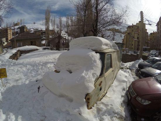 Building Exterior Weather Cold Temperature Winter Snow Iran Shemshak Nature City Car Mountain