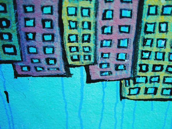 Grafitti Drawing Urbanphotography Child Drawing Streetphotography Houses And Windows Building Exterior Drawings Colors Color Of Life