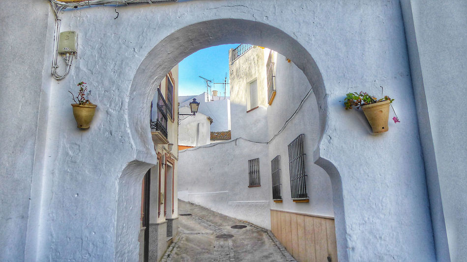 Old Town Streets, Olvera Spain Pueblos Blancos Old Town SPAIN Arch Architecture Building Olvera Olvera Spain Historic Whitewashed Residential District