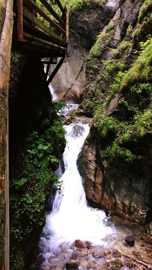 Waterfall Water Austria Woodwalking Miniwaterfall Woodbridge Beauty In Nature