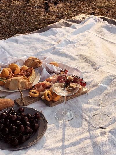Wine & snacks.