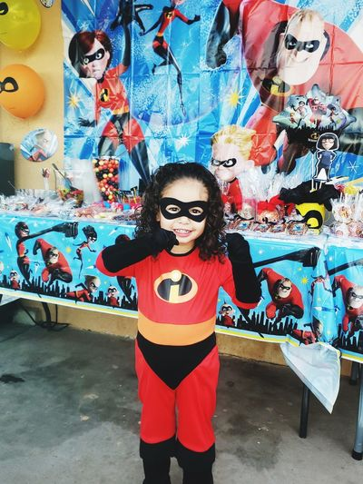 my little super hero TheIncredibles Babyjackjack Party Portrait Multi Colored Street Art Artist Graffiti Art And Craft Female Likeness