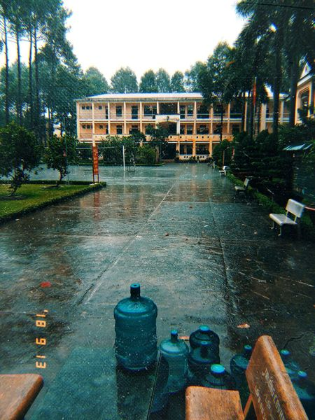 Rainy day 🌧️🌧️🌧️🌧️🌧️ Military School Vietnam Rain Rainy Day Hcm City