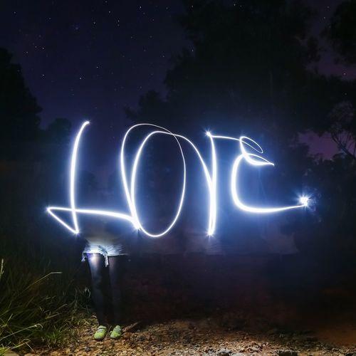 Love and stars Star Stars Light Lights Lightpainting Lightpaintingphotography Night Nightphotography Starry Sky Long Exposure