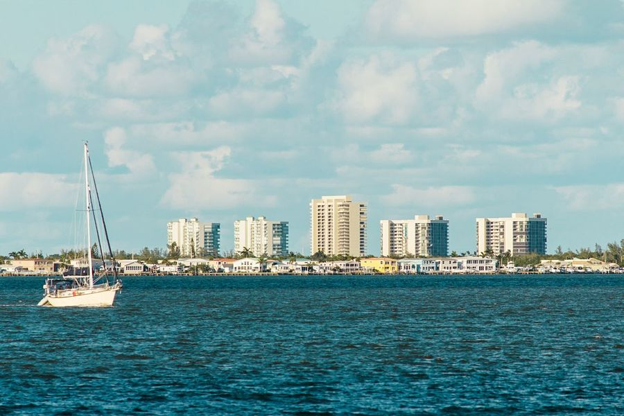 Sea Nautical Vessel Outdoors Travel Destinations Cloud - Sky Water Sailing Sky No People Nature Architecture Day Sailboat Yachting Florida Jensen Beach Boat