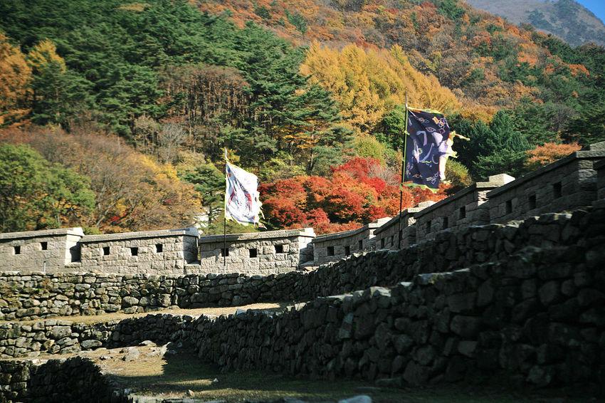Munkyung Munkyungsaejae Castle Autumn Autumn Foliage Autumn Leaves South Korea Korea