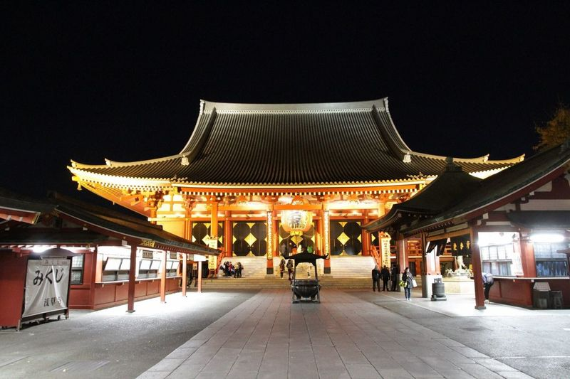 Welcome To Black Sensoji Asakusa Tokyo LoveTokyo History Historical Structure Architecture Beautiful Tokyolove Night Illuminated City Travel Outdoors Cultures This Is Japan