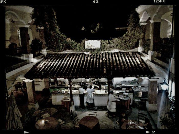 Cafe fonda Antigua Guatemala HDR Night Photography