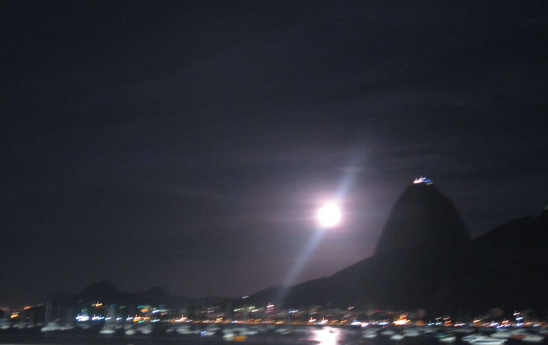 PRIA DE BOTAFOGO Architecture Bright Building Building Exterior Built Structure City City Life Cityscape Copy Space Illuminated Lens Flare Light Light - Natural Phenomenon Lighting Equipment Low Angle View Moon Moonlight Nature Night Nightlife No People Outdoors Sky Skyscraper Travel Destinations