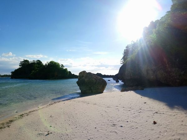 Beaching Outdoors Scenics Beach Cloud - Sky Blue Sea Relaxation Sand Sunny Travel Destinations Whitesand Landscape Sky Water Horizon Over Water Xperiaphotography Visasayas Philippines